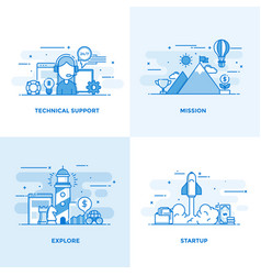 Flat line designed concepts 2 vector