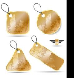 Gold premium badge texture set vector