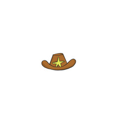 hat sheriff icon vector image
