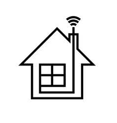 house with Wi-FI vector image