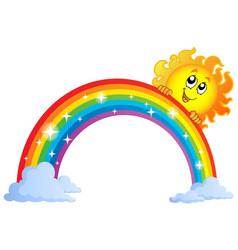 Image with rainbow theme 9 vector