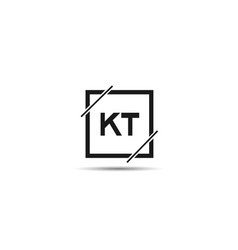 Initial letter kt logo template design vector