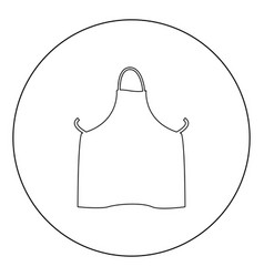 kitchen apron icon black color in circle or round vector image