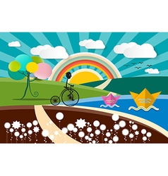 Landscape - Abstract Cartoon vector