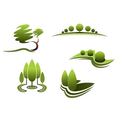 Landscape design elements vector image