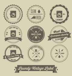 laundry business vintage label vector image