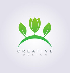 Leaf shape design clipart symbol logo art template vector
