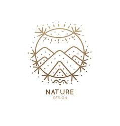 Logo sacred nature vector