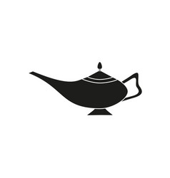 magic lamp black icon vector image