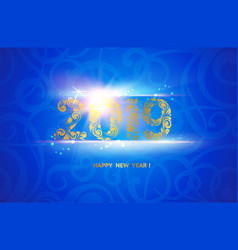 New year 2019 sign over blue background calendar vector
