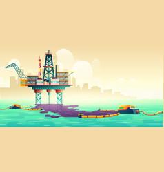 oil spill liquidation technology concept vector image