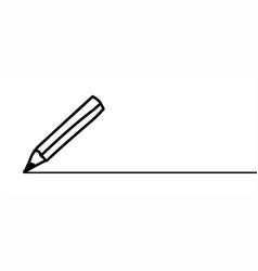 Pencil line pattern cartoon ball pen icon vector