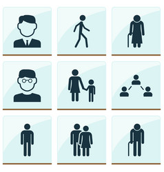 Person icons set collection of scientist work vector