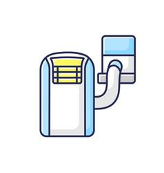 Portable air conditioner rgb color icon vector