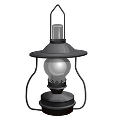 portable kerosene lamp isolated on white vector image
