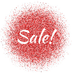 Red dust with sale sign vector