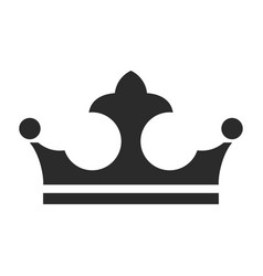 royal crown icon authority and jewelry symbol vector image