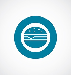 Sandwich icon bold blue circle border vector