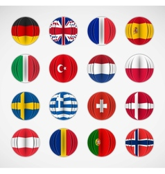 set flags vector image