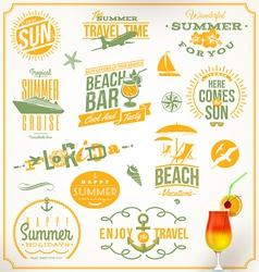 set travel and vacation emblems vector image