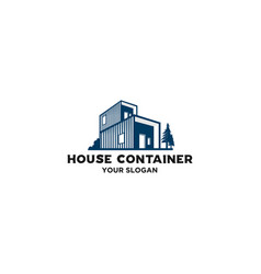 simple house container logo vector image
