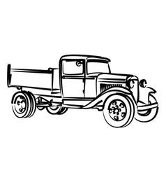 Sketch of old truck vector
