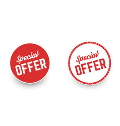 Special offer banners vector