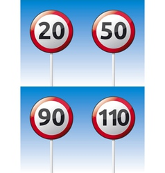 Speed limit traffic road board vector