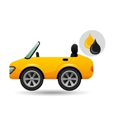 Sport car drop oil gasoline vector