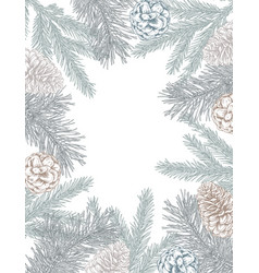 template for christmas greeting card or vector image