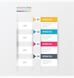 timeline yellow blue pink color vector image