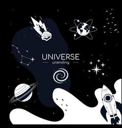 unending universe - flat design style conceptual vector image