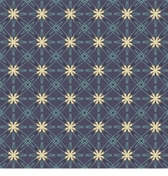 Vintage Flowers Graphic On Navy Blue Background vector image