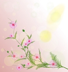 Watercolor sakura frame Background with blossom vector