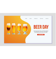 web page all sorts beer and ale vector image