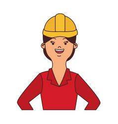 Woman engineer cartoon vector