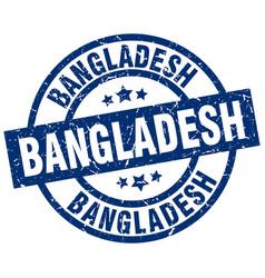 Bangladesh blue round grunge stamp vector