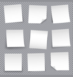 creative of post note papers vector image