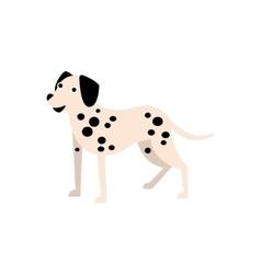 Dalmatian Dog Breed Primitive Cartoon vector image vector image