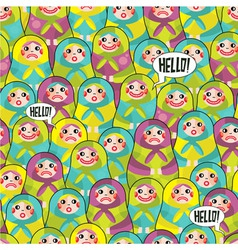 Doll faces vector image