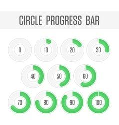 Green circle progress bar vector image