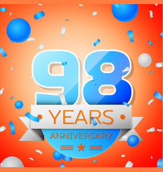 ninety eight years anniversary celebration vector image vector image
