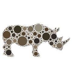 rhinoceros silhouette vector image vector image