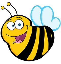 Bee Cartoon Mascot Character vector image