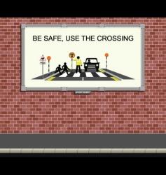 bilboard sign vector image vector image