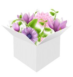 Box Bouquet vector image