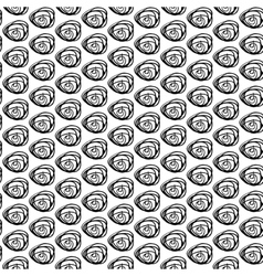 Monochrome seamless pattern with hand drawn vector image vector image