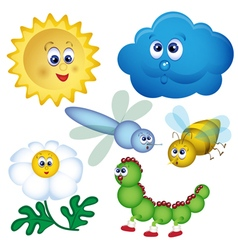 set of bugs Cartoon vector image