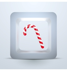 Symbol candy of Christmas and New Year vector image