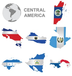 Central american countries vector